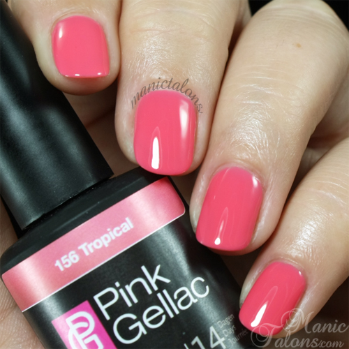 Pink Gellac Gel Polish Tropical Swatch