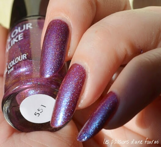 vernis multichrome holographique
