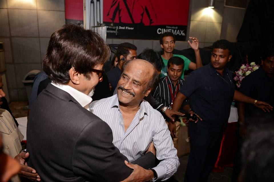 Amithabh, Aishwarya and others at the launch of the film KOCHADAIIYAN of Rajni at Mumbai