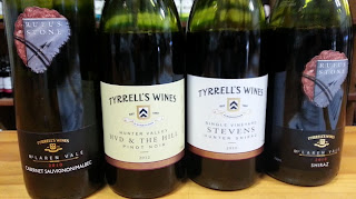 Tyrrell's red wines