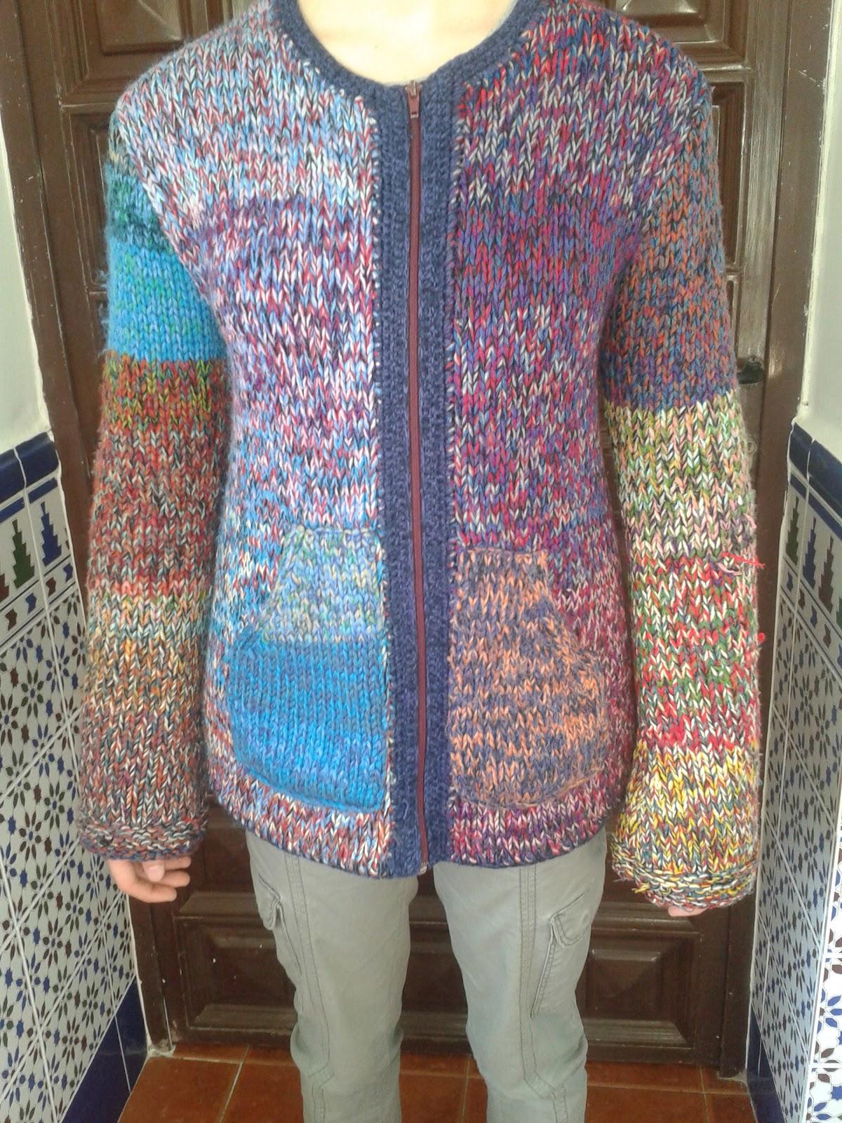 Las maravillas de alicia chaqueta de punto de colores - Labores de punto de lana ...