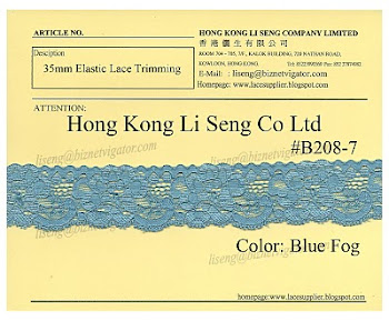 Elastic Lace Trimming Supplier - Hong Kong Li Seng Co Ltd