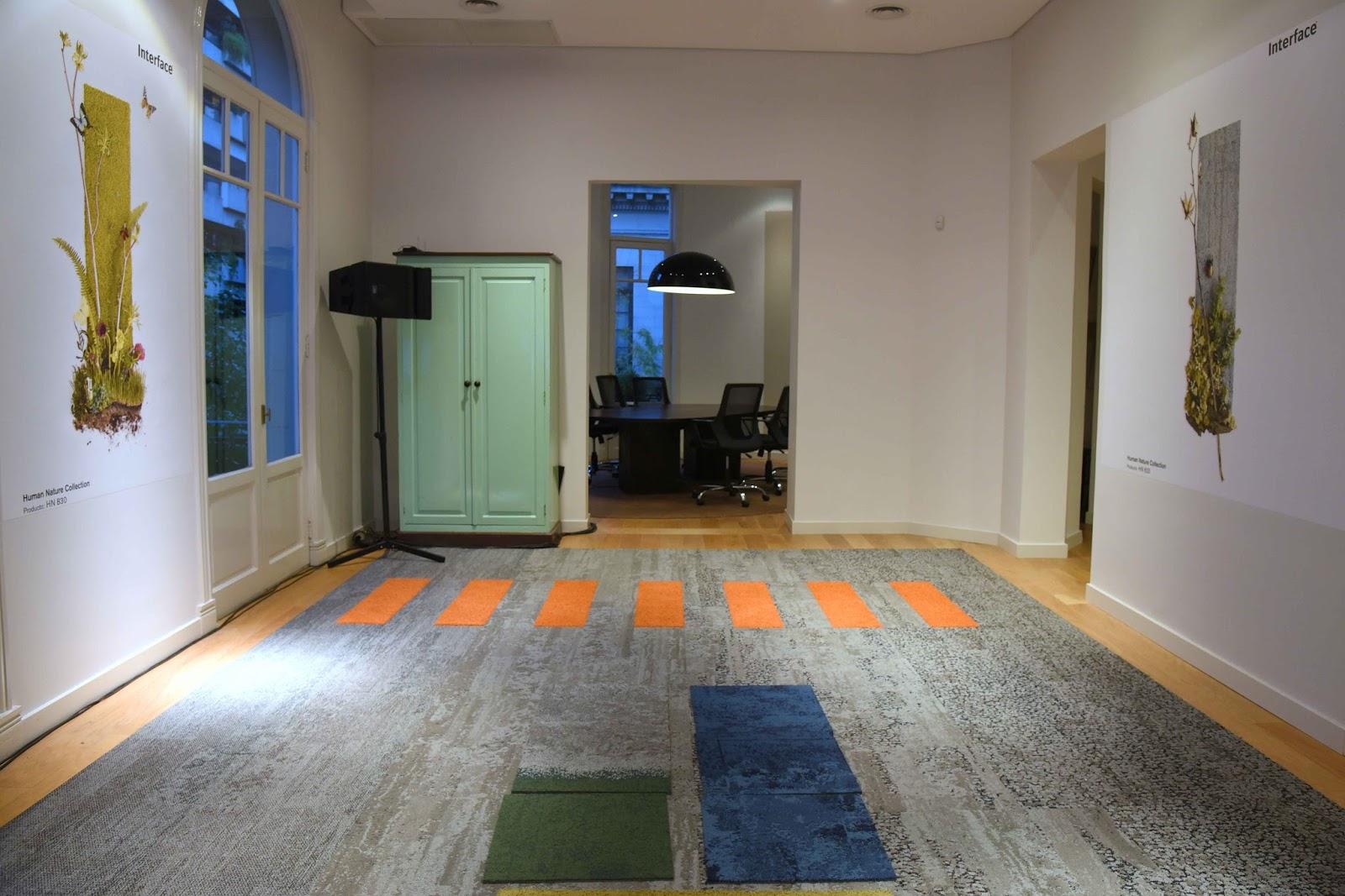 Empresas interface y kalpakian presentan una nueva colecci n de alfombras modulares human spaces - Alfombras para empresas ...