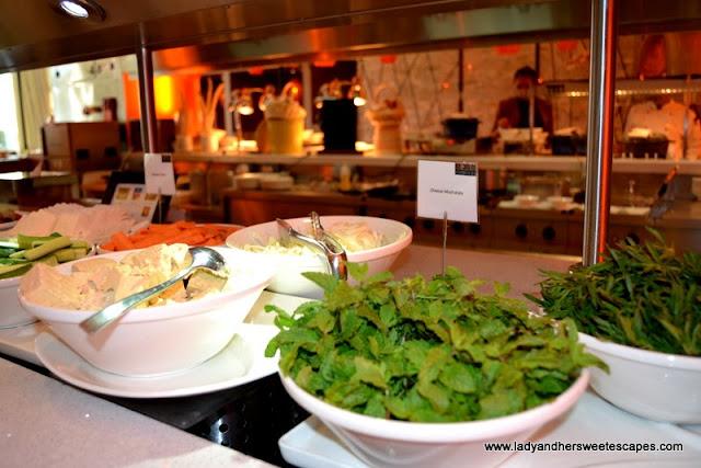 healthy options at Choices restaurant in Yas Island Rotana