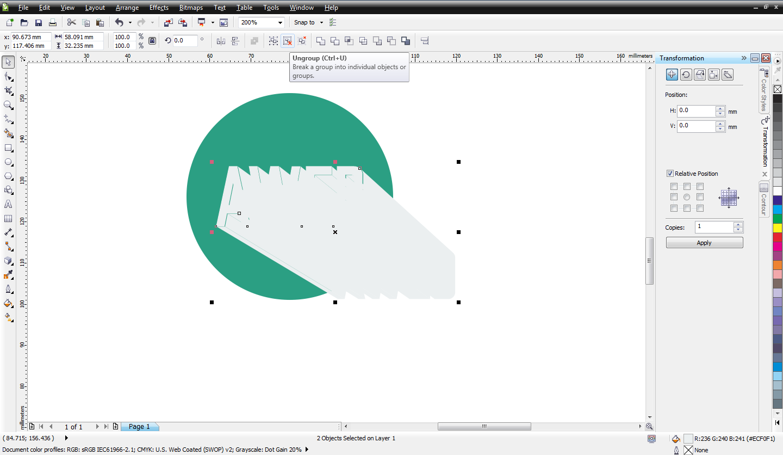 Cara Membuat Flat Desain Dan Long Shadow Di Corel Draw