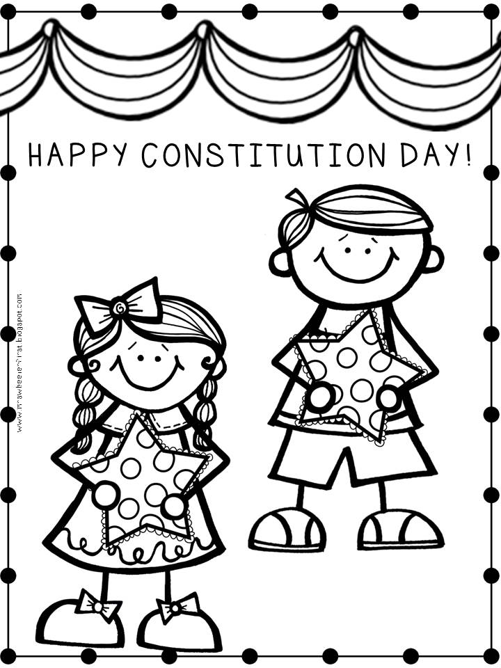 Mrs wheeler 39 s first grade tidbits constitution day for Constitution day coloring pages kindergarten