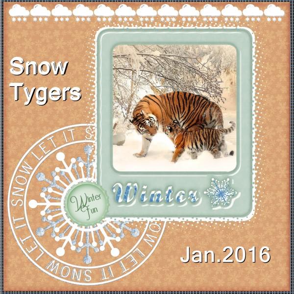 Jan.2016 - Snow Tygers