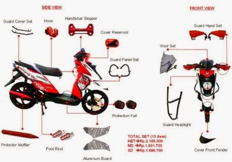 13 aksesoris Yamaha X Ride SE dan ASE