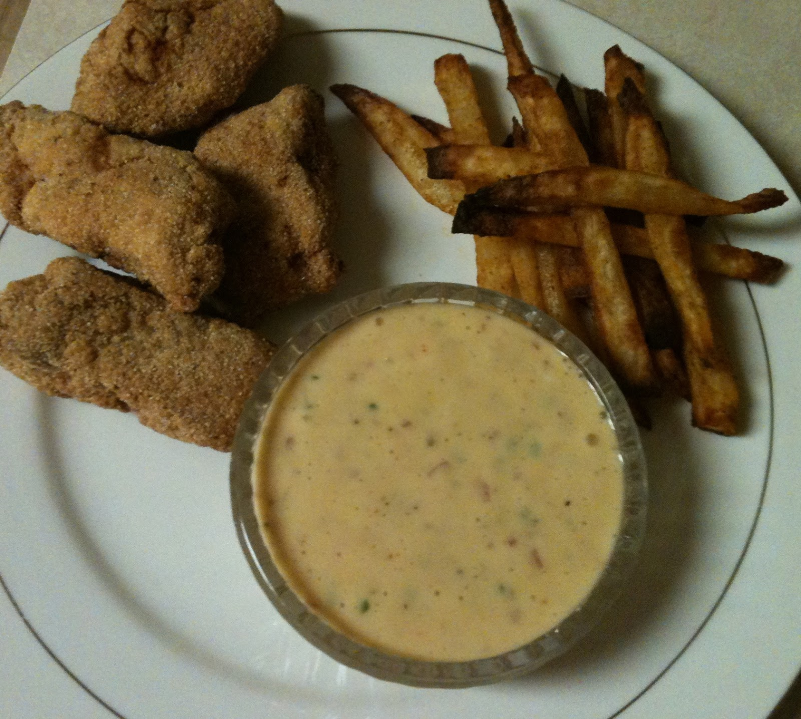 Luv2cook fried fish semolina crusted with tartar sauce for How to make tartar sauce for fish fillet
