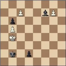 Problema de Fracesc Vivas Font, problemas SEPA 208/10, 1959, posición después de 2…d2!