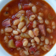 ham, navy bean and tomato soup