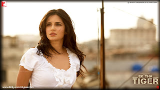Hot Katrina Kaif in white dress Wallpaper from Ek Tha Tiger