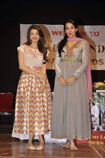 Actress Kajal Agarwal Latest Pictures at Felicitate Chidren NGO Alert India 16