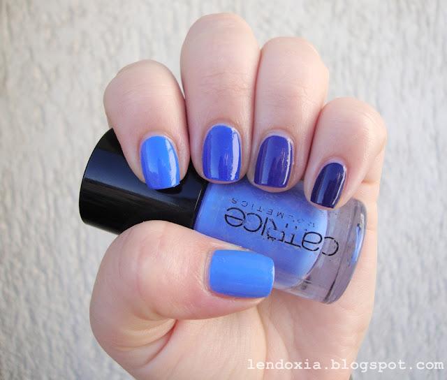 plavi ombre nokti