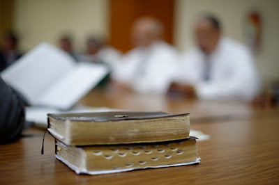Picture of Scriptures on Table