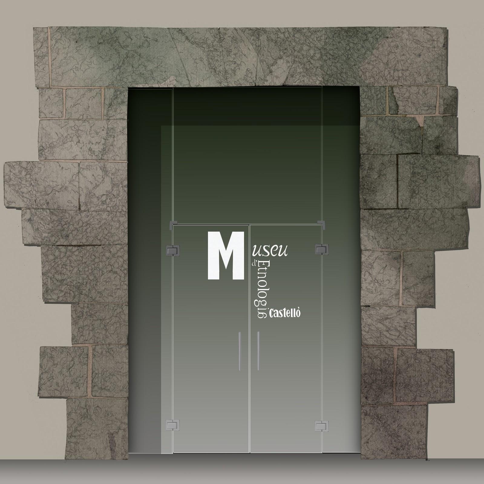 dibujo, puerta, piedra y cristal