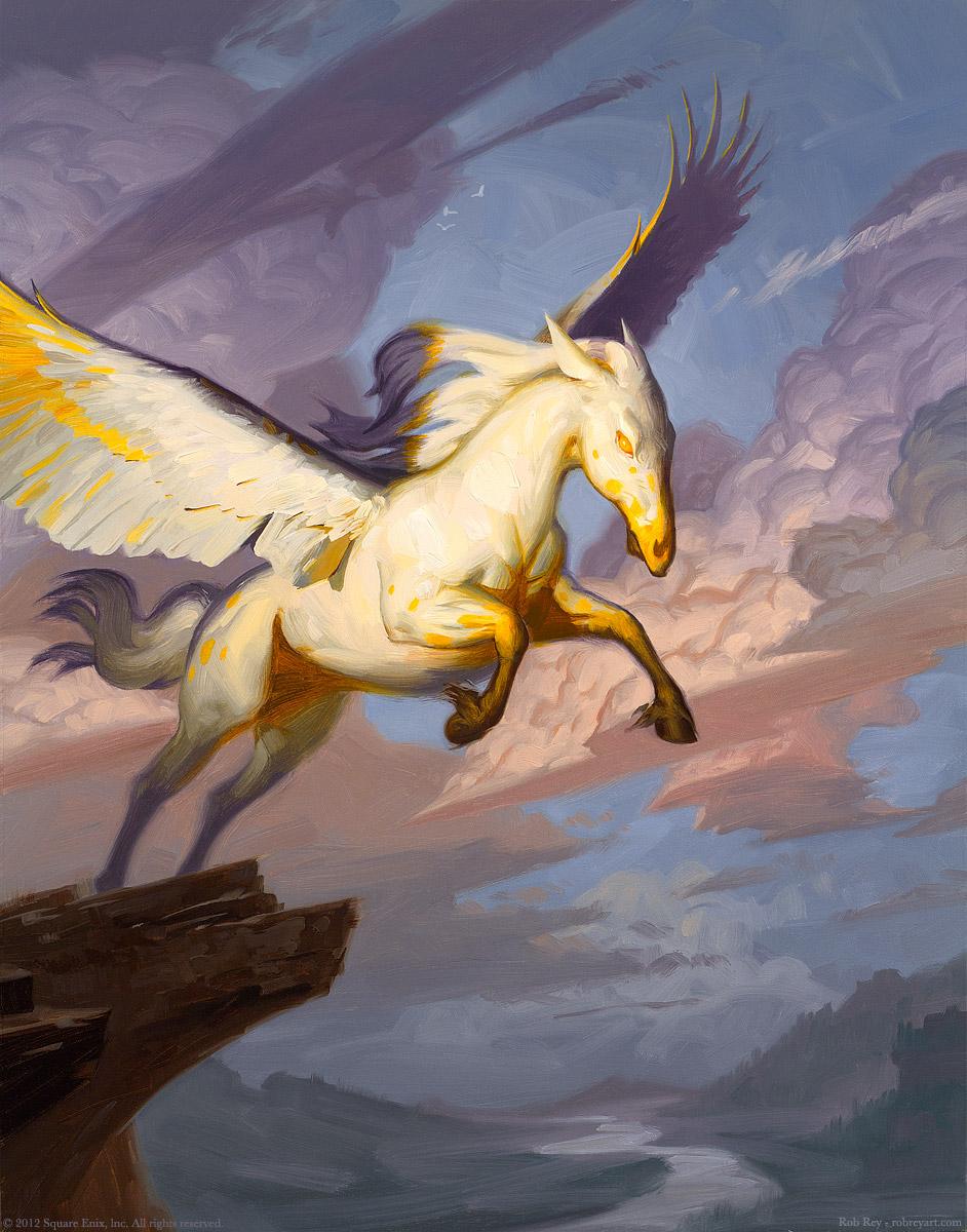 Spirecliff Pegasus by Rob Rey - robreyart.com