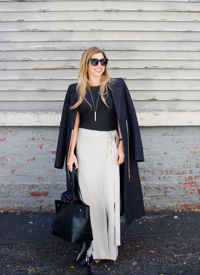 COS Wool Trousers with Half Apron Tied Wrap