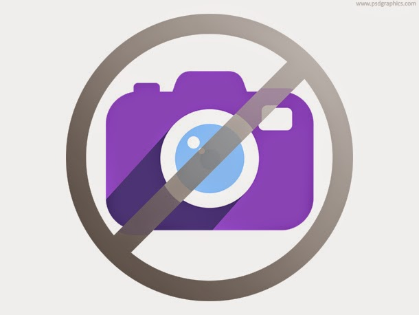 No Photography Sign Icon PSD