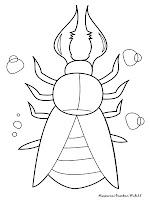 Gambar Mewarnai Serangga
