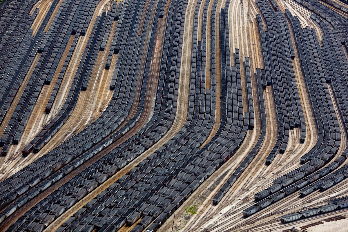 Norfolk Virginia Kömür Yüklü Trenler