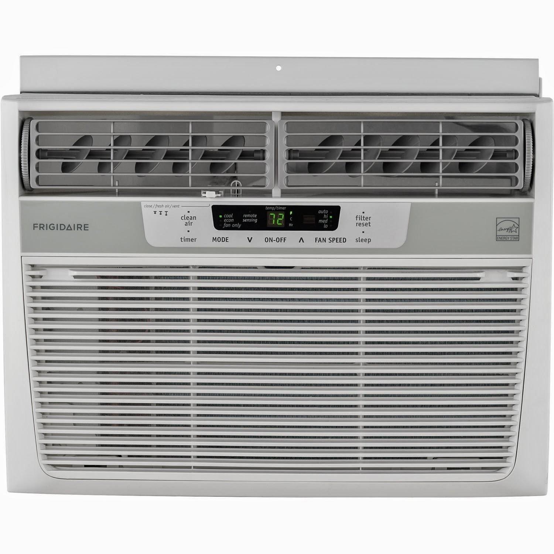 Frigidaire Energy Star 12,000 BTU 115V Window-Mounted Compact Air Conditioner w/ Temperature Sensing Remote Control, FFRE1233Q1