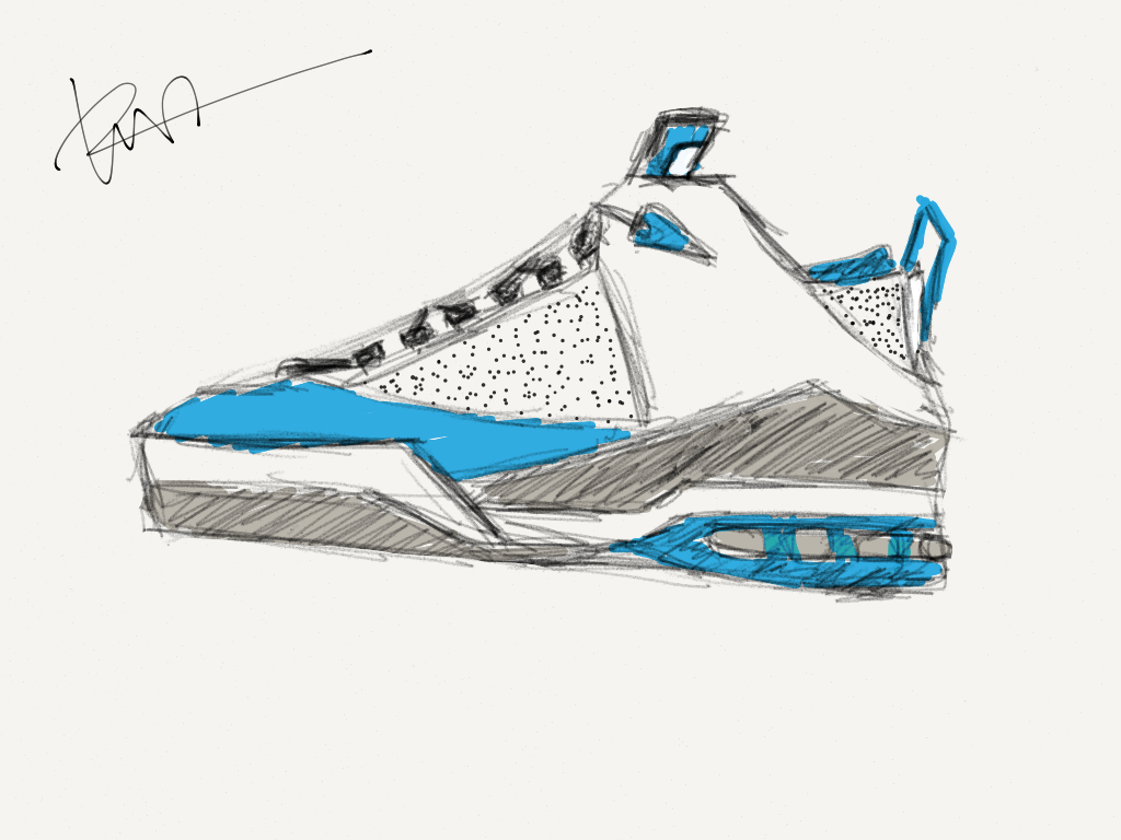 Jordan 13 Shoes Drawing This Shoe i Wanted to Draw a