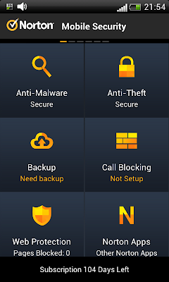 Norton Mobile Security: All functions in one place