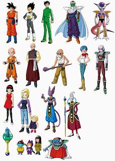 ตัวละครหลักในหนัง Dragon Ball Z Fukkatsu No F - ดราก้อนบอล แซด ตอน การคืนชีพของฟรีเซอร์
