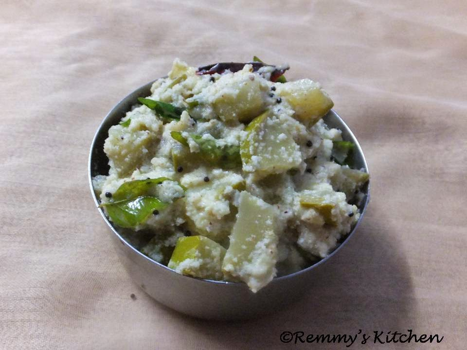 Manga kichadi/ Raw mango in curd and coconut gravy