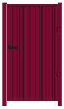 """Схема калитки модульных ограждений из профнастила Grandline """"Премиум"""". Фото 16"""