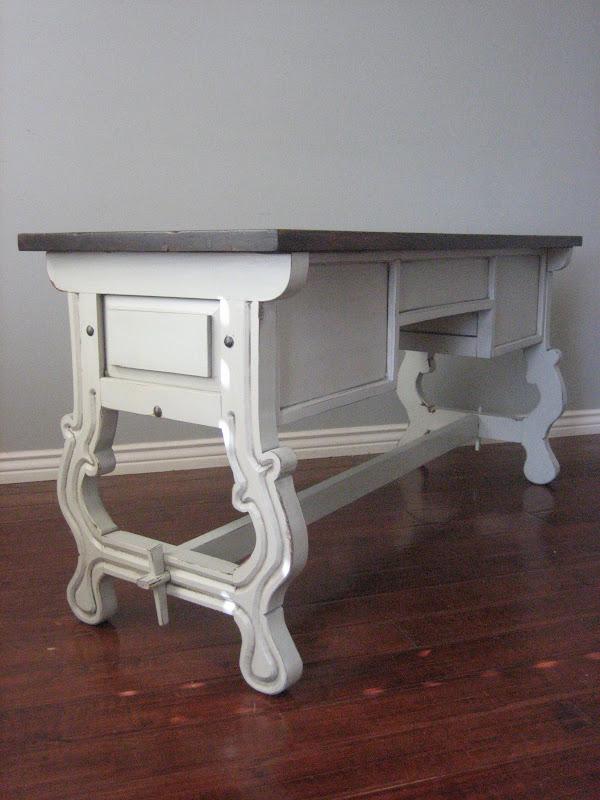 European Paint Finishes Vintage Trestle Desk