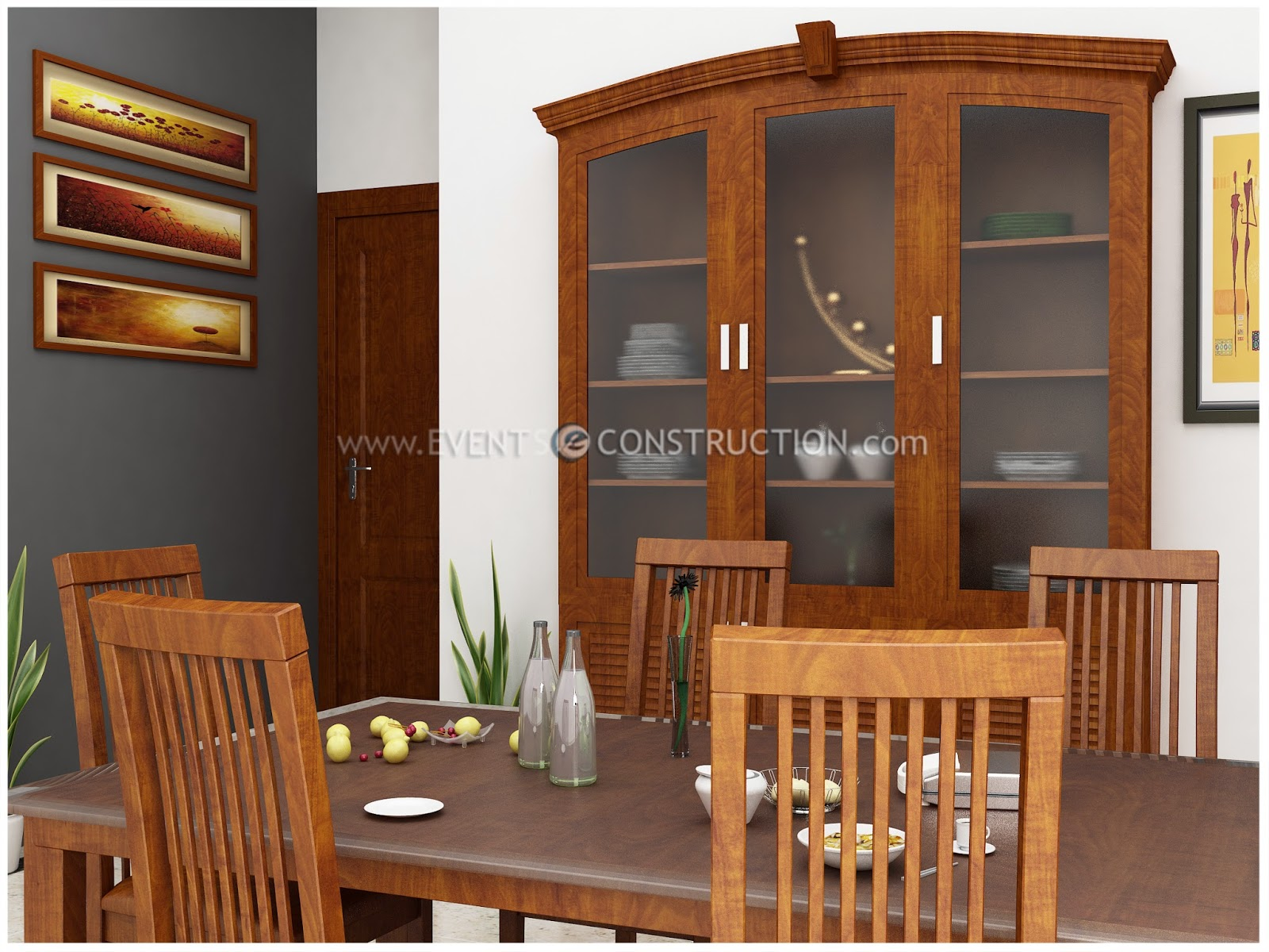 Evens construction pvt ltd dining room design for kerala home for Dining room designs kerala