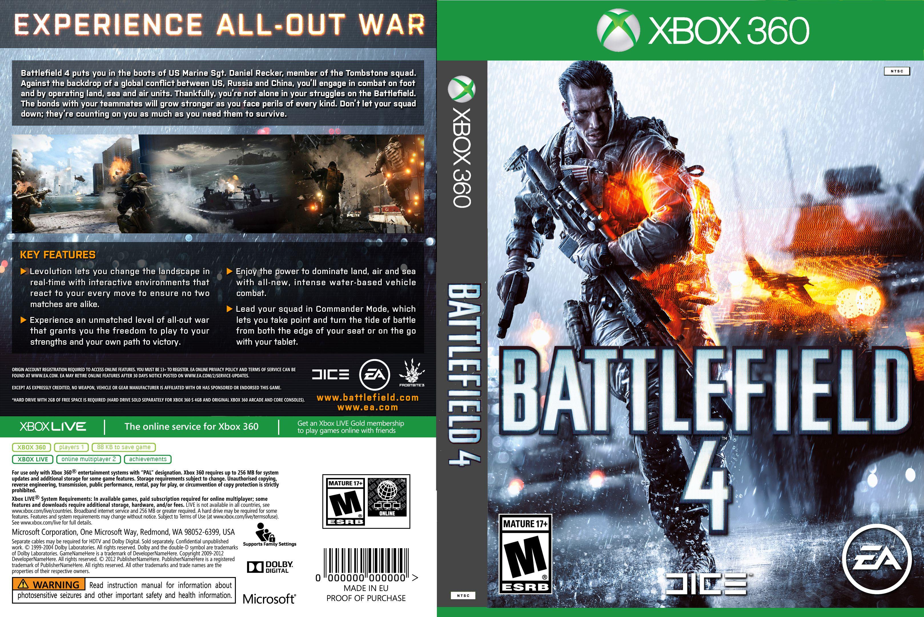 Capa Battlefield 4 Xbox 360