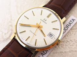 OMEGA GENEVE SILVER DIAL - GOLD CASE 14K - MANUAL WINDING CAL 1030