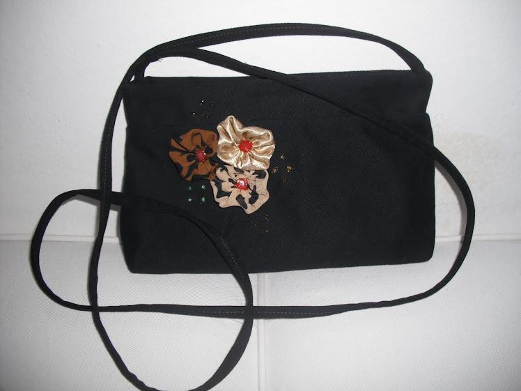 Bolsa de sarja preta 100% algodão