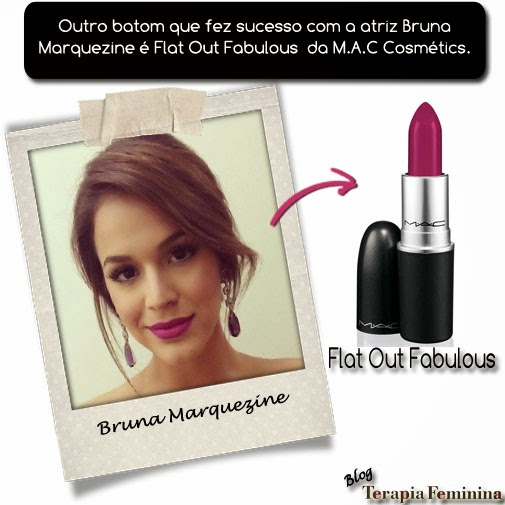 Bruna Marquezine e o batom Out Flat Fabulous