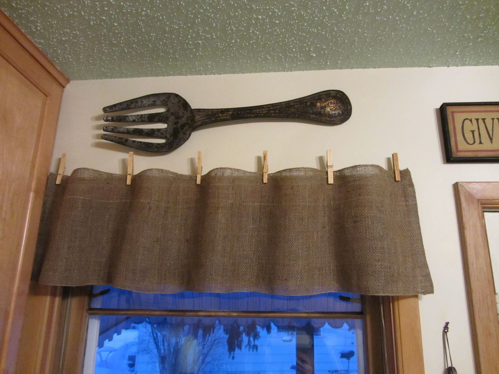 Burlap Valances For Windows : Quick easy and cheap burlap valances organized clutter