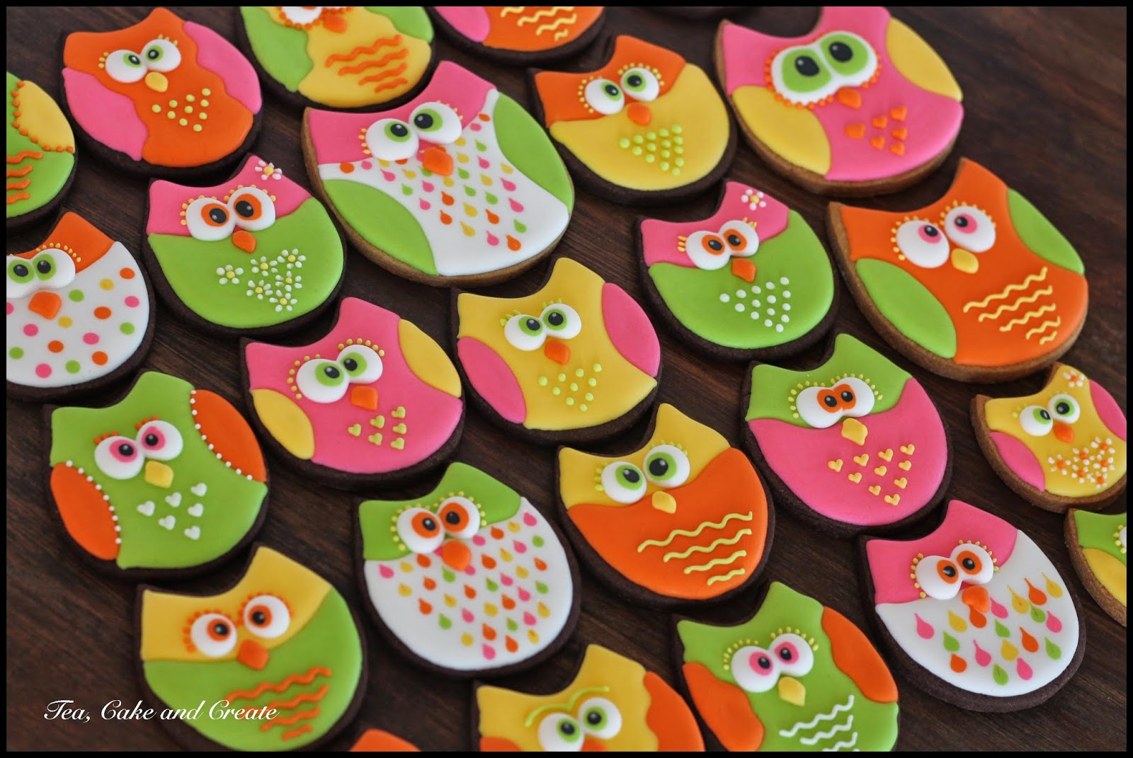owl shaped cookies