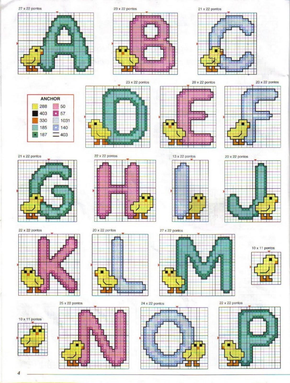 Monogramas e Alfabetos em Ponto Cruz Part. 4