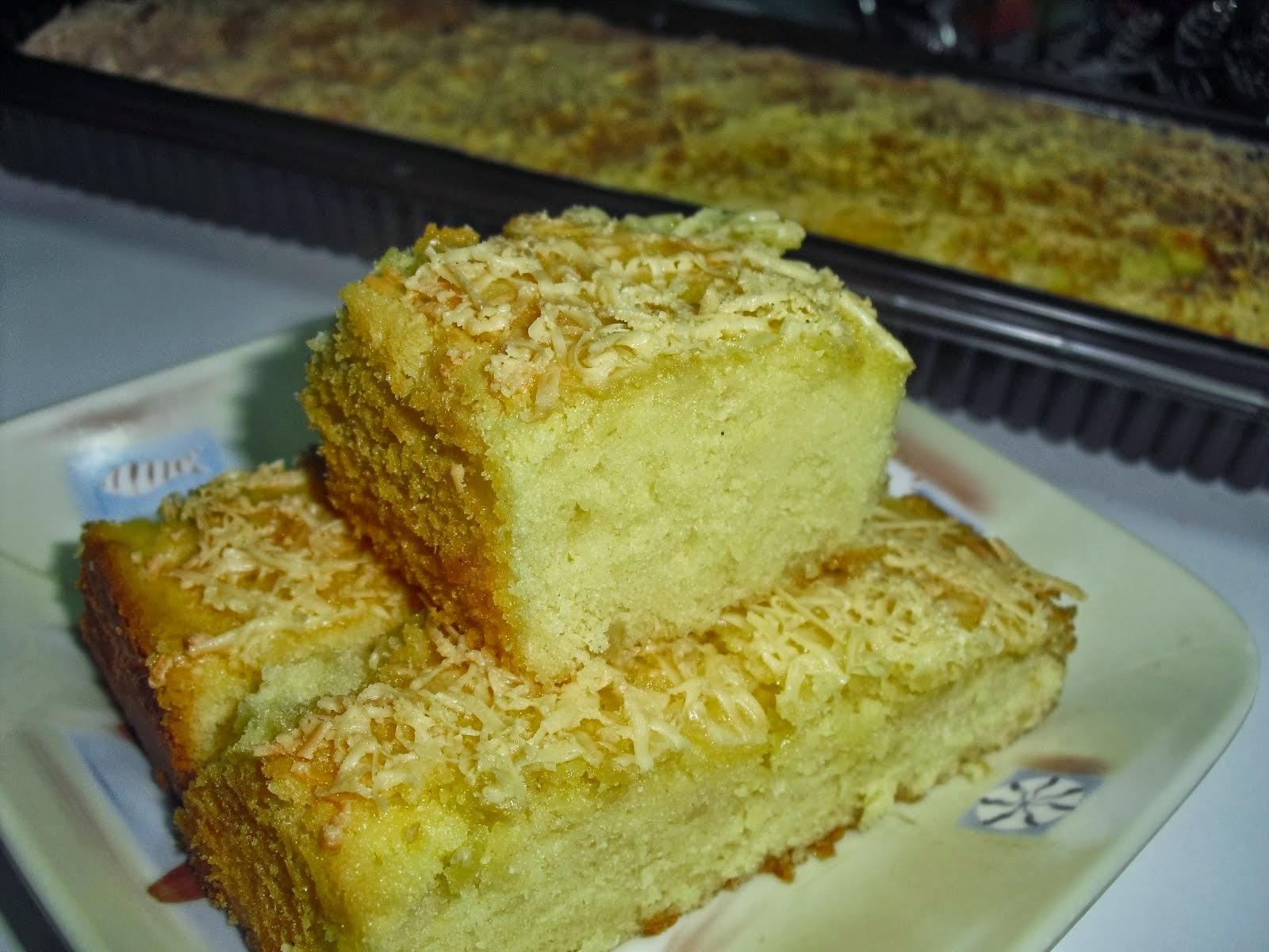 Cake Bolu tape singkong nikmat