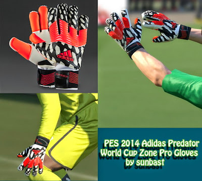 PES 2014 Adidas Predator World Cup Zone Pro Gloves by sunbast