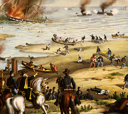 battle of hampton roads The battle of hampton roads was the first naval battle of the civil war when the war broke out, president abraham lincoln ordered a naval blockade of key southern ports.