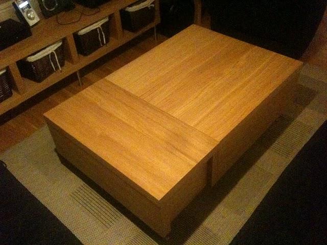 Ikea hack mesa de centro con 3 almacenajes malm - Ikea mesa centro ...