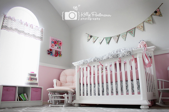 Girl Nursery, Newborn Photography, Kelly Portmann Photography, Plano TX Newborn