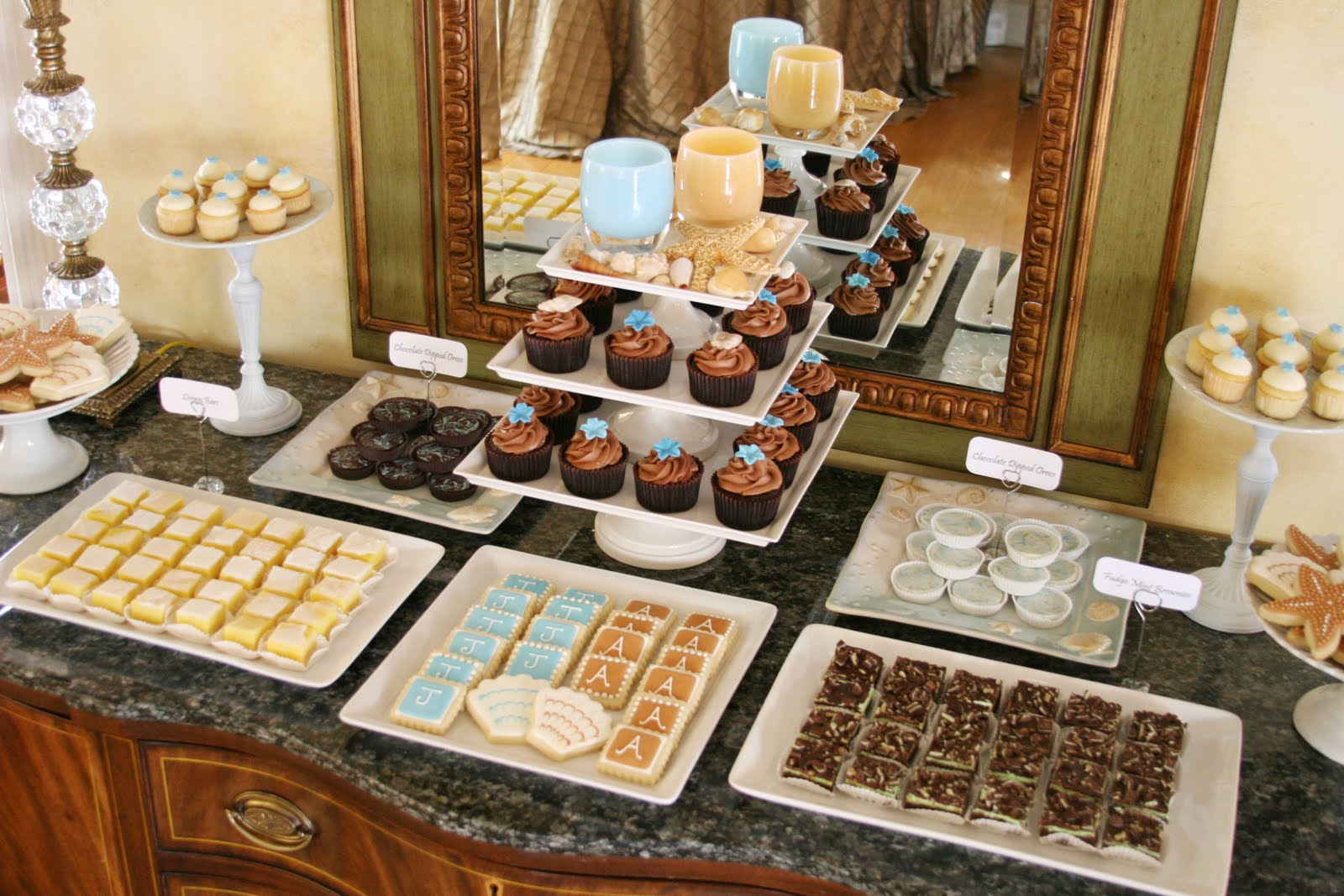 beach wedding cake and dessert table glorious treats. Black Bedroom Furniture Sets. Home Design Ideas