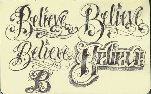 Kirschgru En Cool Tattoo Lettering Designs