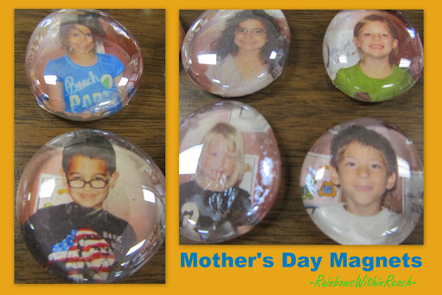 photo of: Preschool Mother's Day gift, Kindergarten Mother's Day present, Mother's Day keepsake, DIY photo magnet