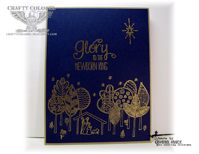 Crafty Colonel Donna Nuce for CASE-ing Christmas blog, Stampin'Up The Newborn King, Christmas Card