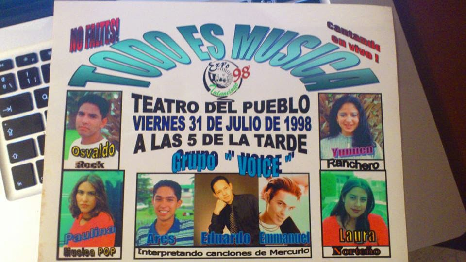 "De Gira por Mexico en 1998 en el Grupo ""Voice"""
